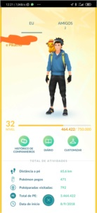 CONTA POKÉMON GO LEVEL 32 FOM MEWTWO IV 98