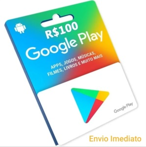 Gift card Google Playstore R$ 100 Reais