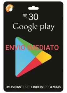 Gift card Google Playstore R$ 30 Reais