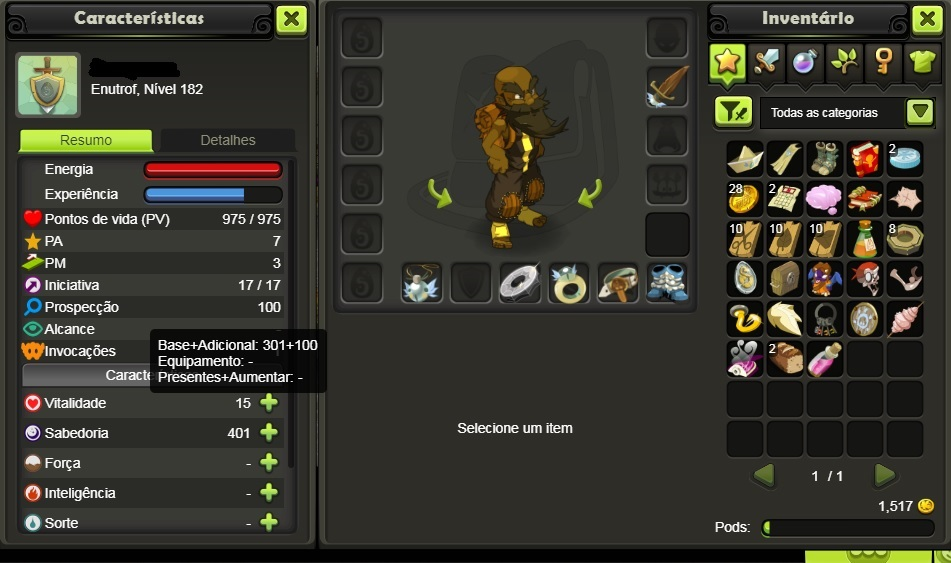CONTA TOP DOFUS TOUCH SERVER BRUTAS