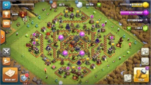 Conta Clash of Clans Cv10 Semifull