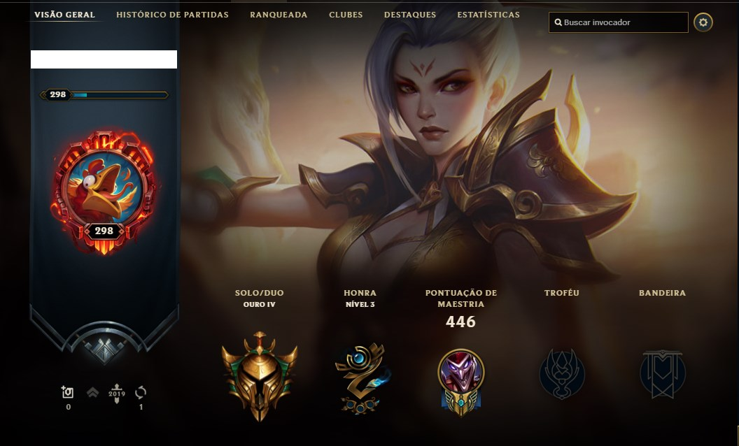 CONTA OURO 4 LEAGUE OF LEGENDS