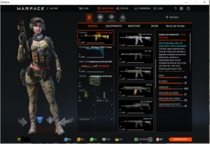 Warface conta top, destaque para m16 gold