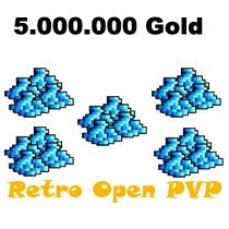 5.000.000 Gold  - Tibia  - Retro Open PvP