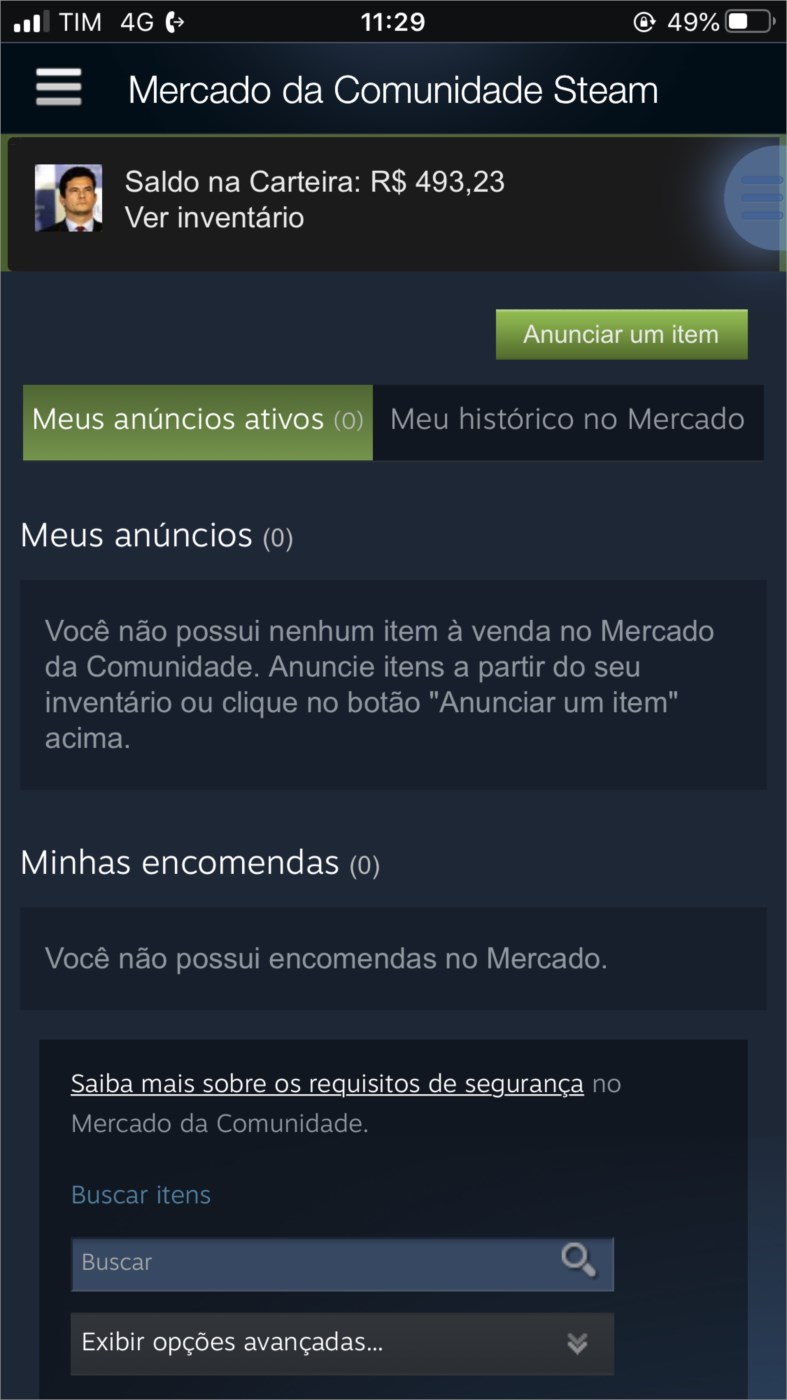 CONTA STEAM COM R$ 493,23. CSGO PRIME, RAINBOW SIX,ETC