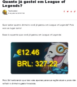Conta League of Legends com 112 skins