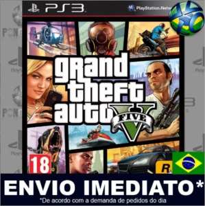 Jogo Gta 5 Grand Theft Auto V PS3 - Midia Digital Português
