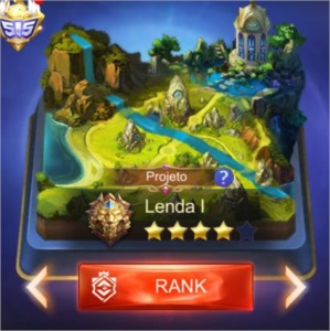 CONTA MOBILE LEGENDS BORDA E EMOTION MITICO