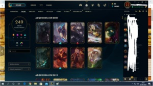 CONTA LEAGUE OF LEGENDS 249 SKINS