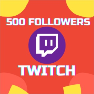 500 Seguidores na TWITCH.TV