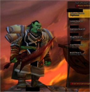 Conta World of Warcraft Classico - Hunter 60 Rogue 55