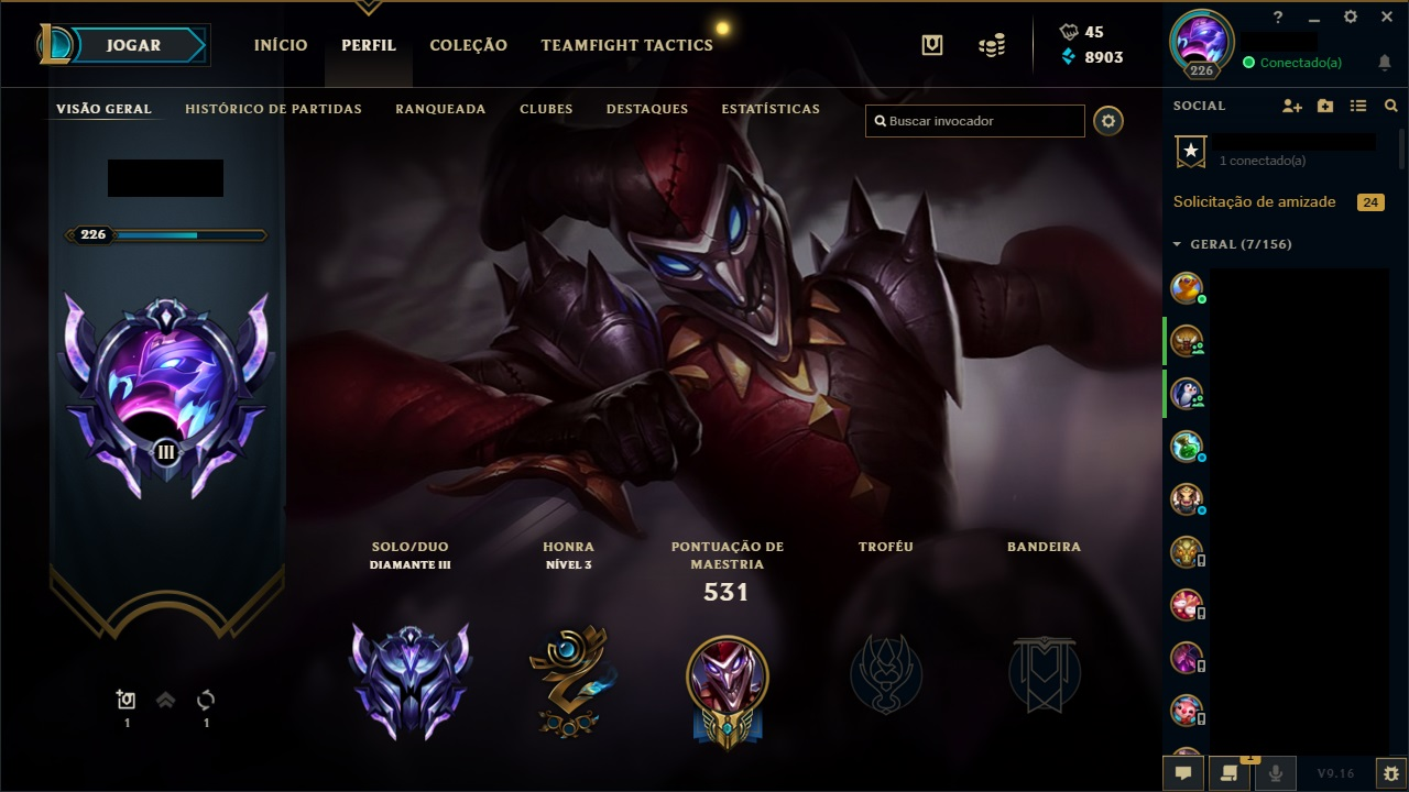 Conta League of Legends Diamond 3