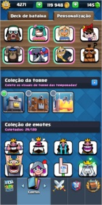 CONTA CLASH ROYALE NIVEL 13, RECORDE 6473.