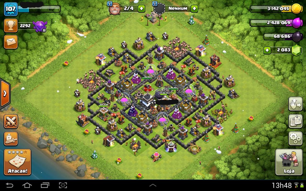 Clash Of Clans Cv 9 Quase Full Nivel 104 Dfg