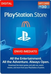 Gift card Playstation Network- PSN R$ 30 Reais