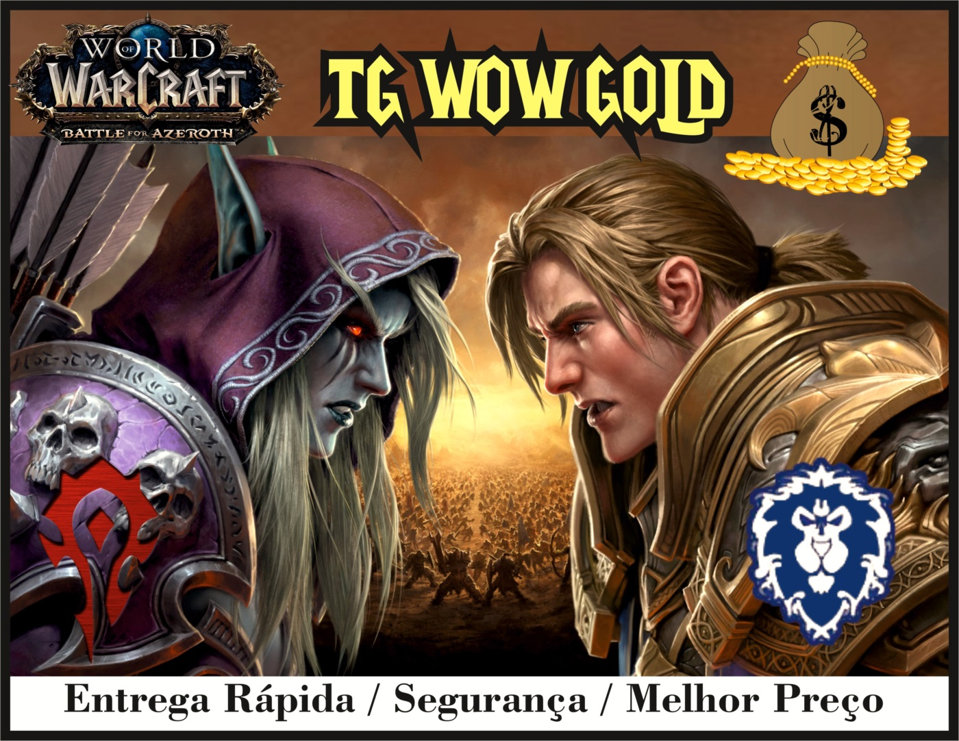 200k ouro,gold wow Azralon,Nemesis, 160k Goldrinn 120k Gally