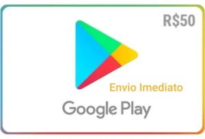 Gift card Google Playstore R$ 50 Reais