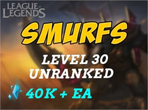 CONTAS UNRANKED/SMURF NV30 LEAGUE OF LEGENDS