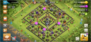 Clash of clans cv 9 full com 6000 gemas