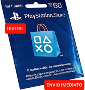Gift card Playstation Network- PSN R$ 60 Reais