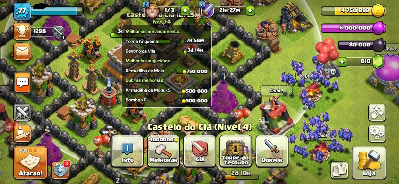 CONTAS CLASH OF CLANS CV8 FULL