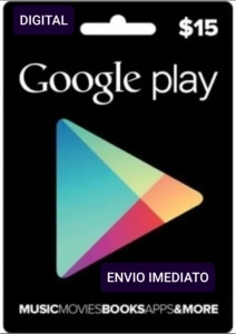 Gift card Google Playstore R$ 15 Reais