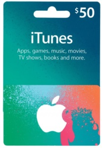 Conta Apple Americana com $50 Dólares iTunes Gift Card
