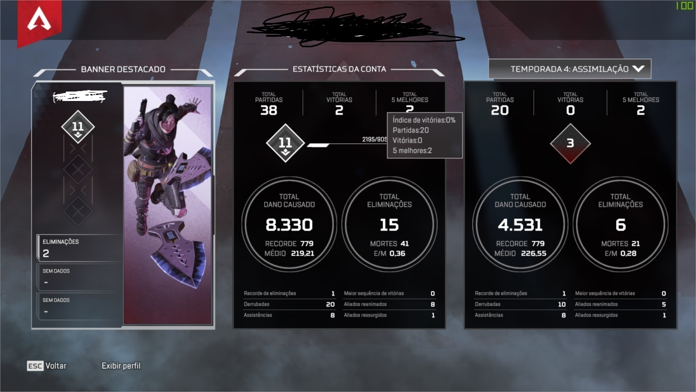 APEX LEGENDS HERANÇA: WRAITH (KUNAI)