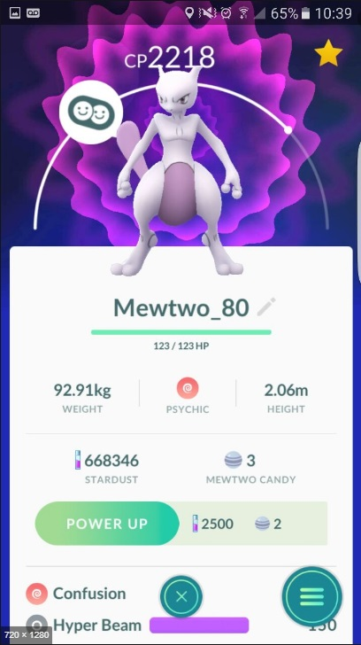 POKEMON GO CAPTURA MEWTWO CHANCE DE VIR SHINY