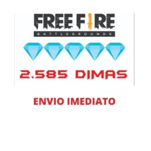 FREE FIRE GARENA FREEFIRE 2585 DIAMANTES