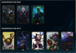 unraked level 65, 14 skins, 5000 essencia azul