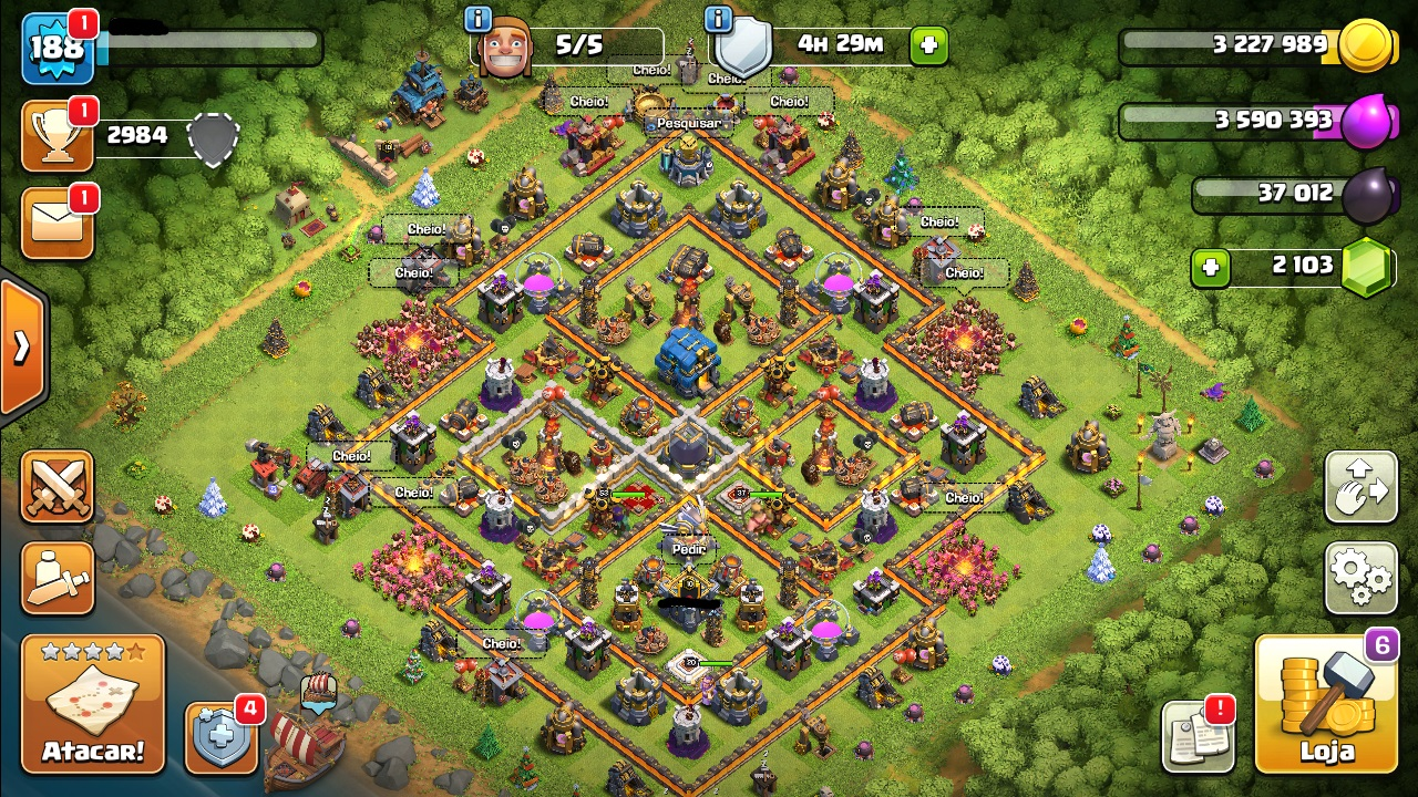 Conta/Vila CV12 no Clash of clans