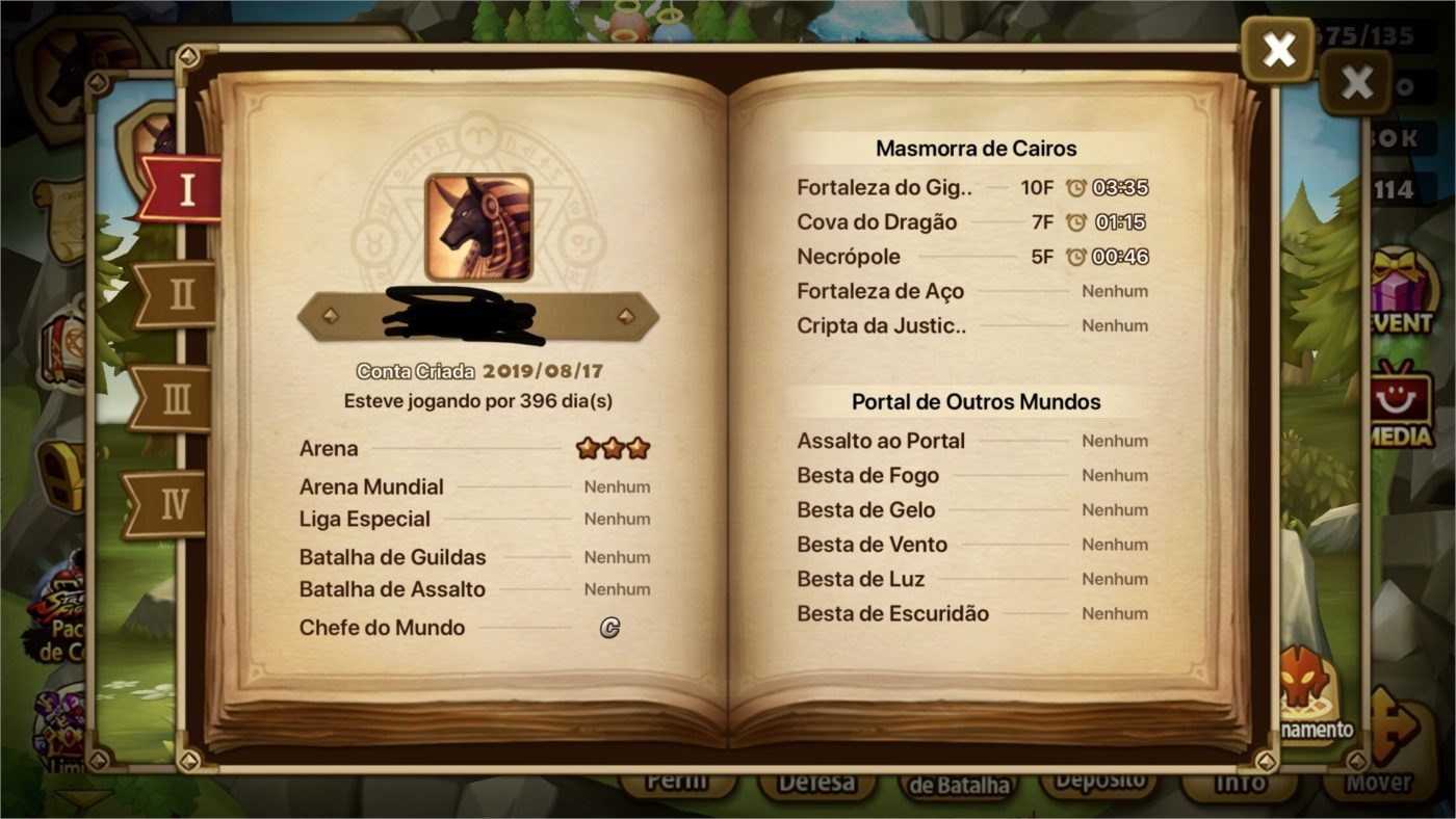 Vendo conta de summoners war
