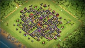 Clash of Clans CV10 com gemas.