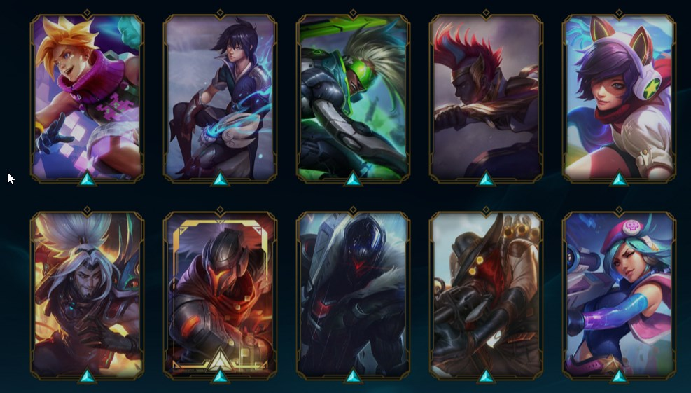 lol Diamante IV, todos os champs, 116 skins