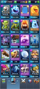 conta clash royale nivel 11