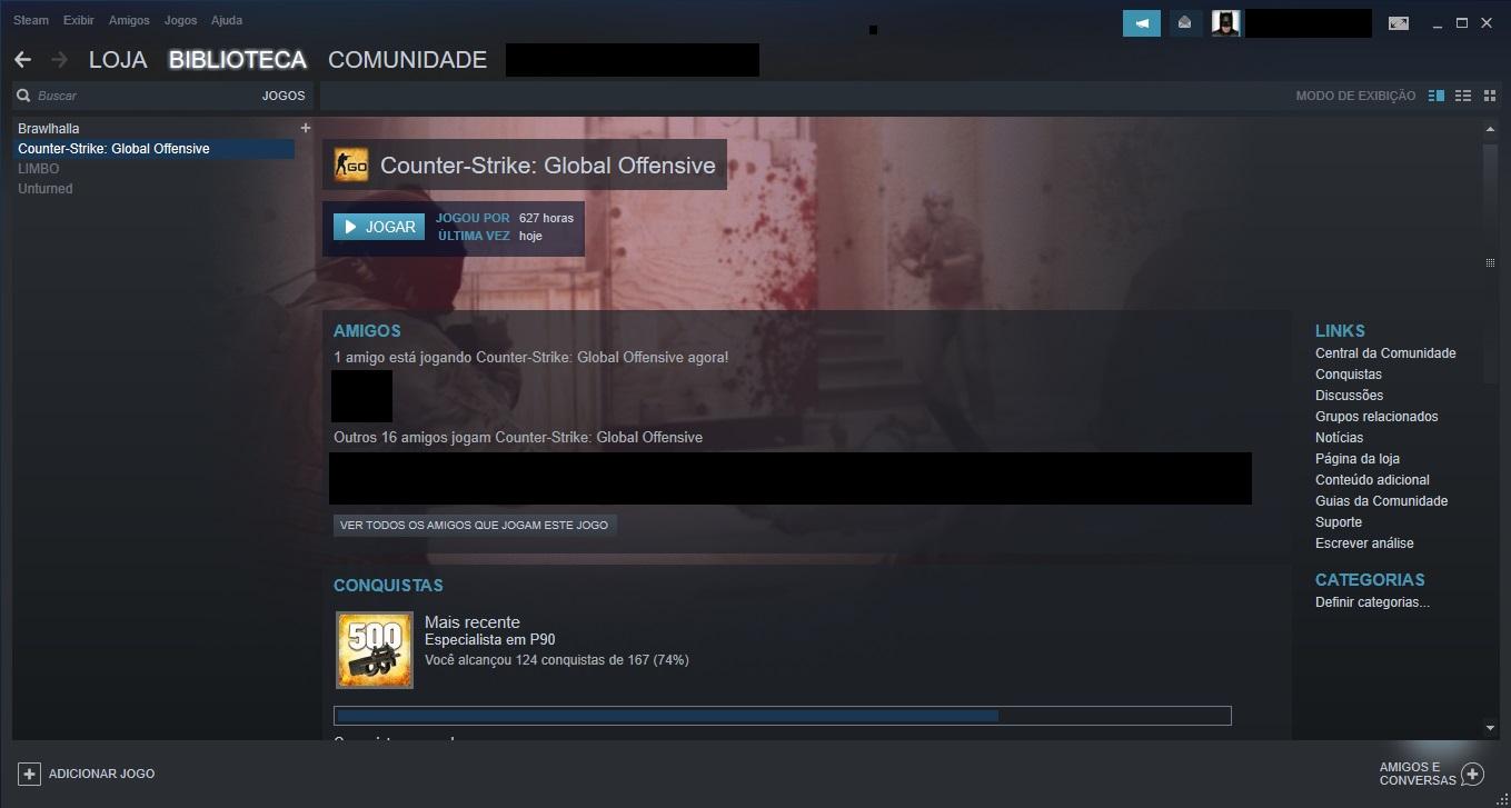 Counter Strike - (VENDO CONTA CS-GO AK1) (628 HORAS JOGADA