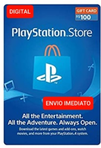 Gift card Playstation Network- PSN R$ 100 Reais