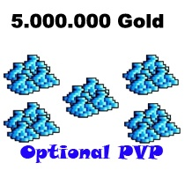 5.000.000 Gold  - Tibia  - Optional PvP