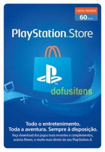 GIFT CARD PLAYSTATION - R$60,00