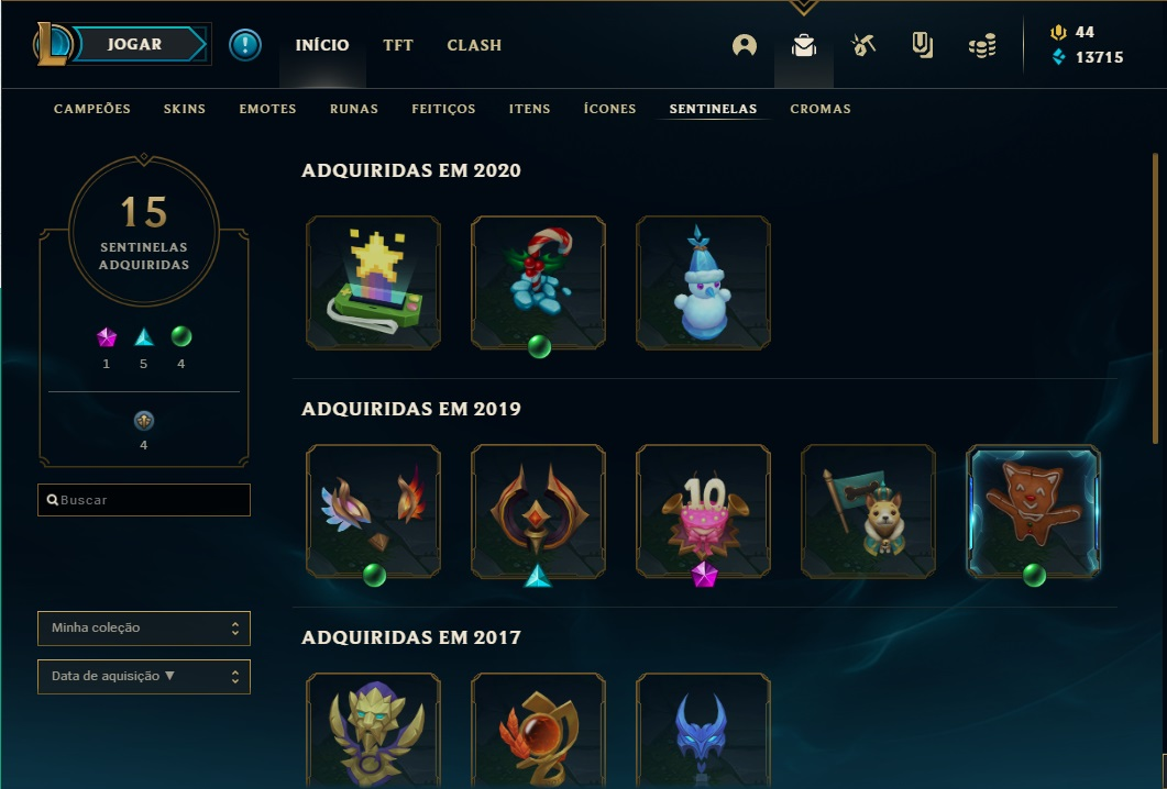CONTA LEAGUE OF LEGENDS 160 SKINS