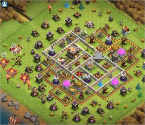 CONTA CLASH OF CLANS CV11 TOP