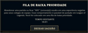 TIRAMOS FILA DE BAIXA PRIORIDADE - LEAGUE OF LEGENDS