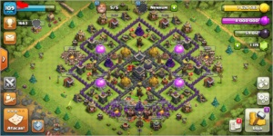 Conta Clash Of Clans Cv 9 full barato