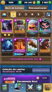 Conta Clash Royale lvl 12 todas as cartas