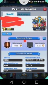 Conta Clash royale nv 11