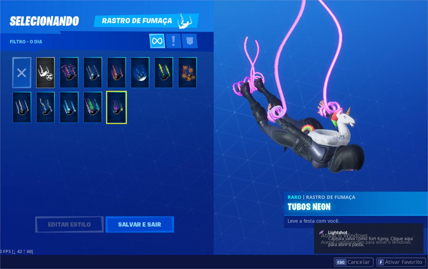 Conta Fortnite 50 Reais passe da 4 e 5 temporadas full.