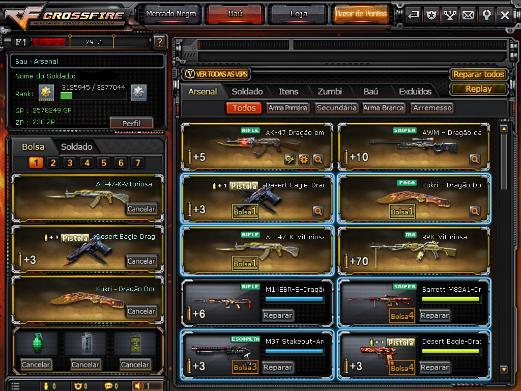 CONTA CROSSFIRE [MAJOR (NIVEL 8) + 5 VIPS]