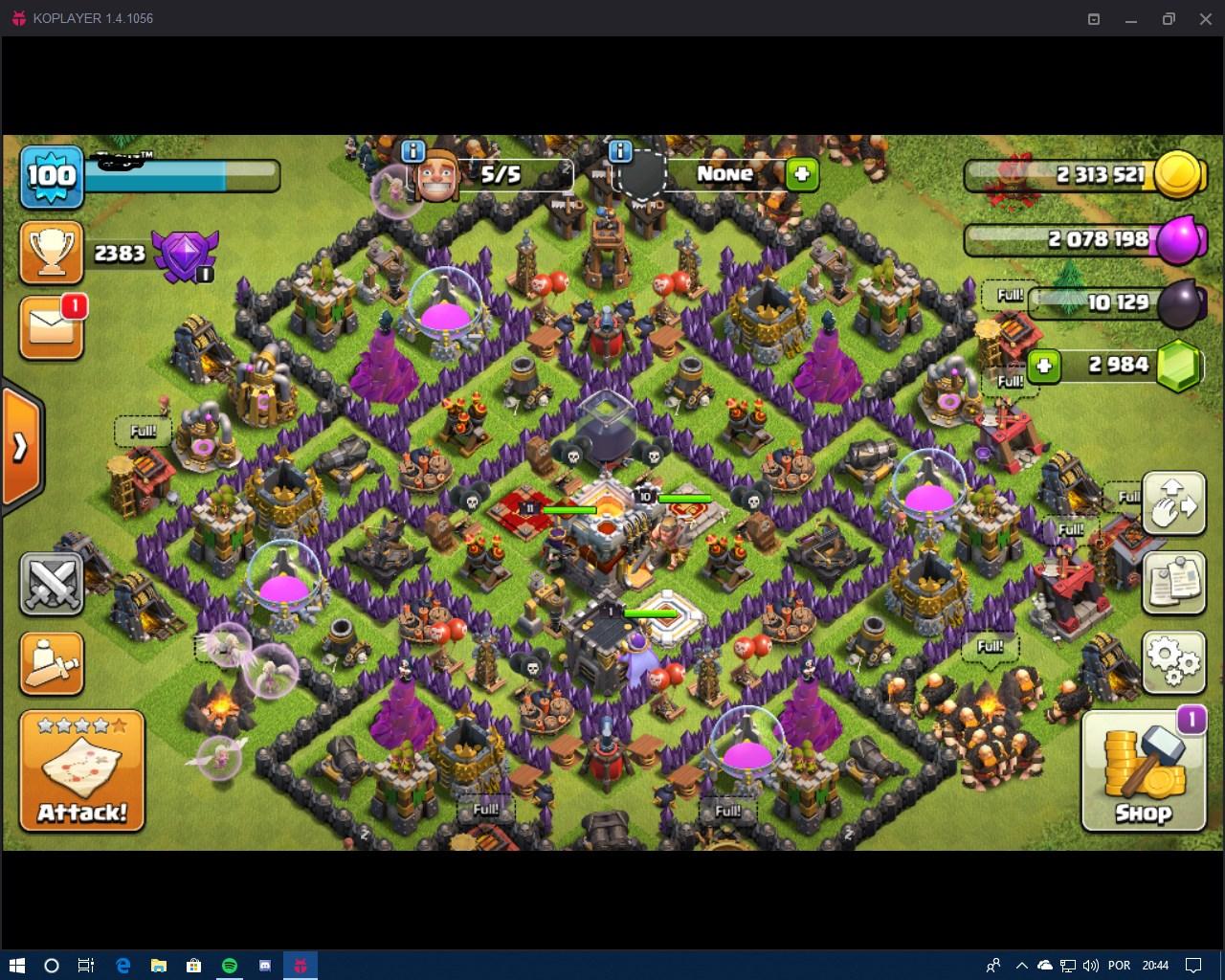 Clash Of Clans Cv9 Quase Full E Vila Do Contrutor Nivel 7 Dfg