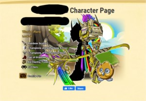 Conta lvl 50 com classes raras de AQW Adventure quest world